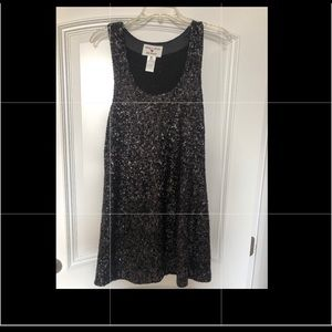 Alice and Olivia Sequin black dress